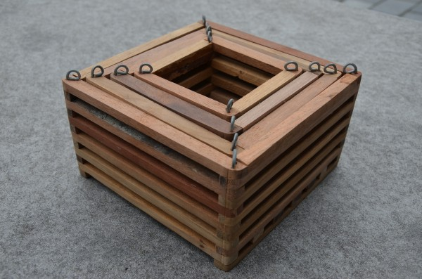 4er Holzkorb-Set / 4 pieces wooden basket set